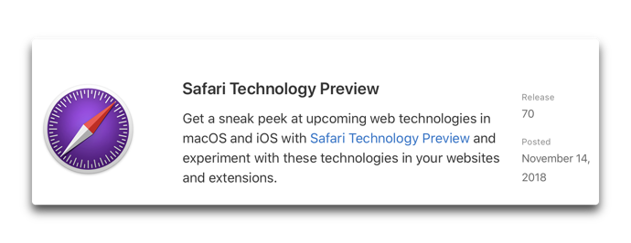 Safari Technology Preview 70 00001