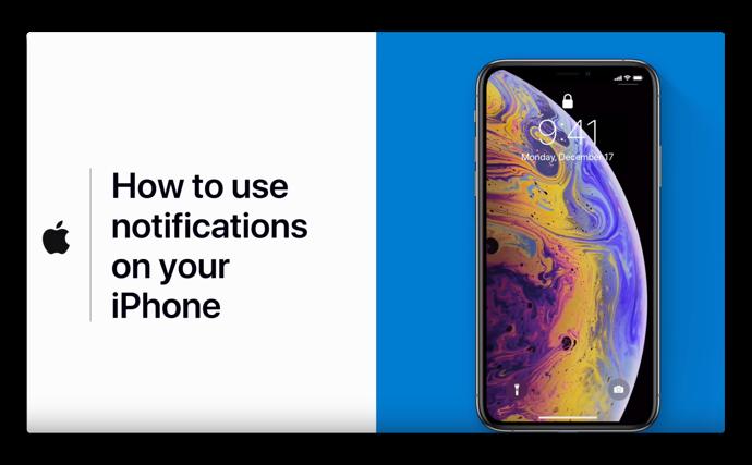 Apple Support、「iPhoneで通知を使用する方法」と題するハウツービデオを公開