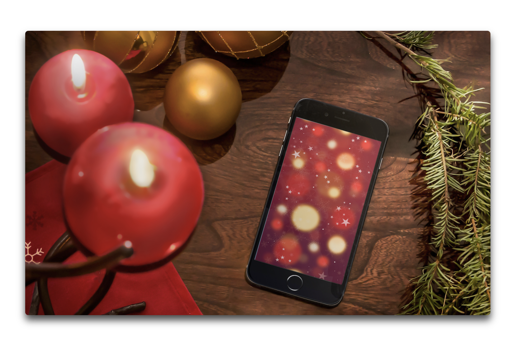 iPhone用、クリスマスと雪の冬をテーマにした全11点の壁紙が公開