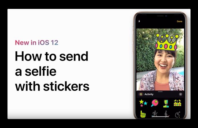Apple Support、「自撮りにステッカーを追加して送る方法」のハウツービデオを公開