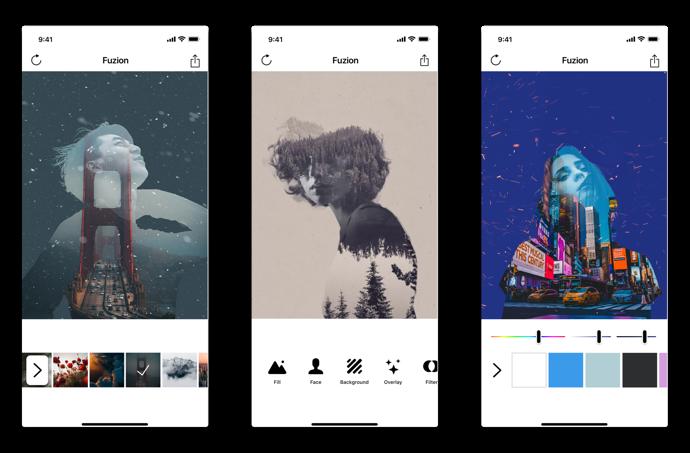 【iOS】ポートレイト写真に二重露光での画像をブレンドする「Fuzion」が1月24日リリース予定