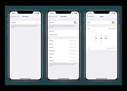 iOS 12.2 beta、スクリーンタイムの休止時間を曜日ごとに設定出来る