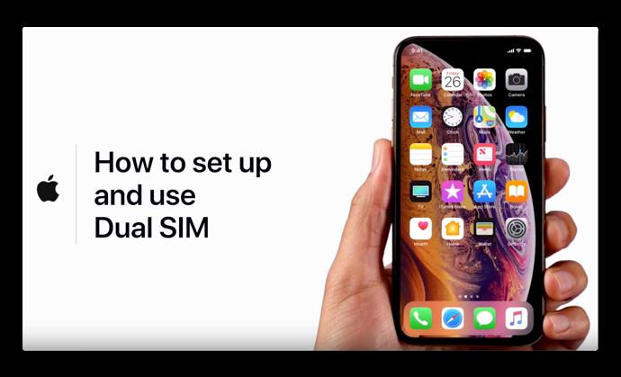 Apple Support、「デュアルSIMの設定と使い方」と題したハウツービデオ公開
