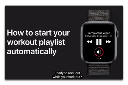 Apple Support、「iPhoneでワークアウトプレイリストを作成する」方法のハウツービデオを公開