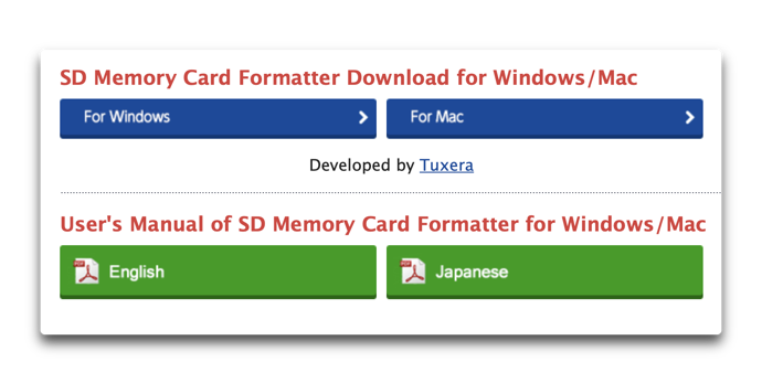 SD Memory Card Formatter 00001