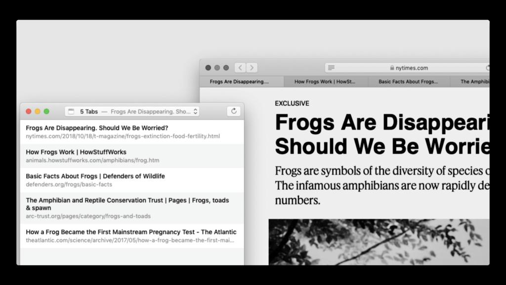 【Mac】Safariで開いているタブからリンクリストを作成するためのユーティリティ「Tabs to Links」