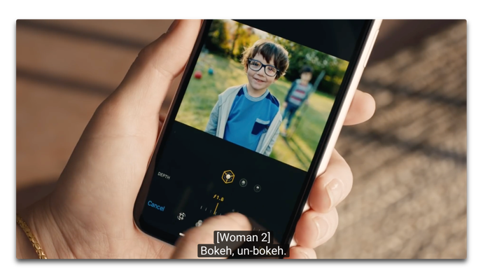 Apple、被写界深度調整に焦点をあてた「Depth Control — Bokeh'd」と題する新しいCFを公開