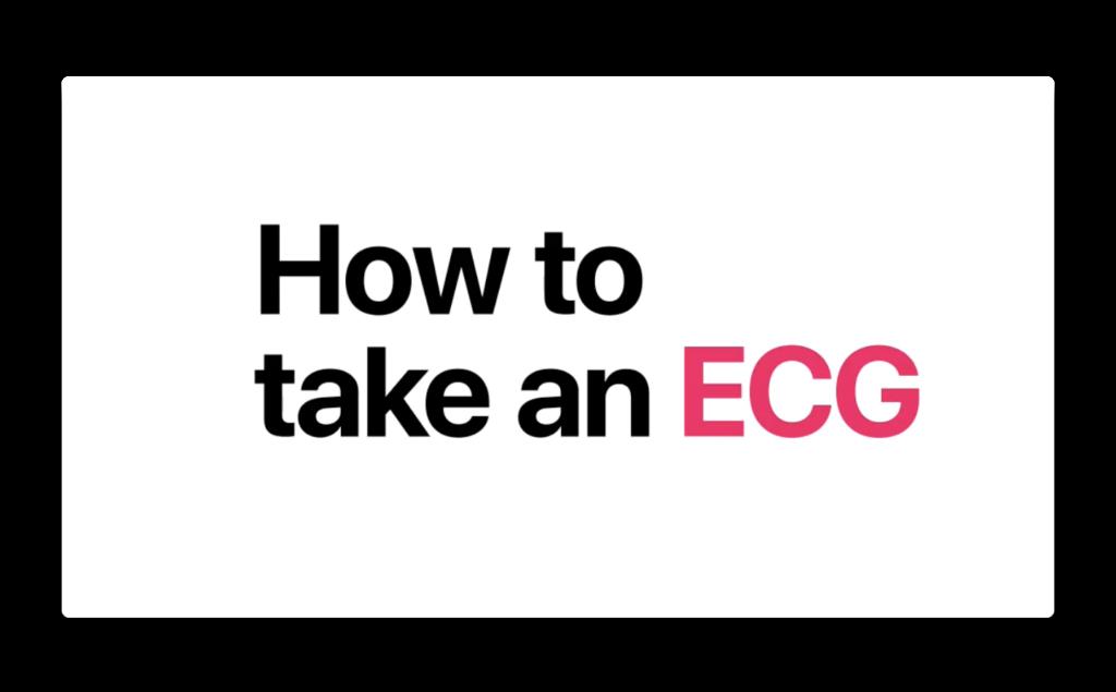 Apple、「Apple Watch Series 4 — How to take an ECG」と題する新しいCFを公開