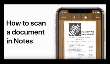 Apple Support、「メモアプリを使ってiPhone上の文書をスキャンする方法」のハウツービデオを公開