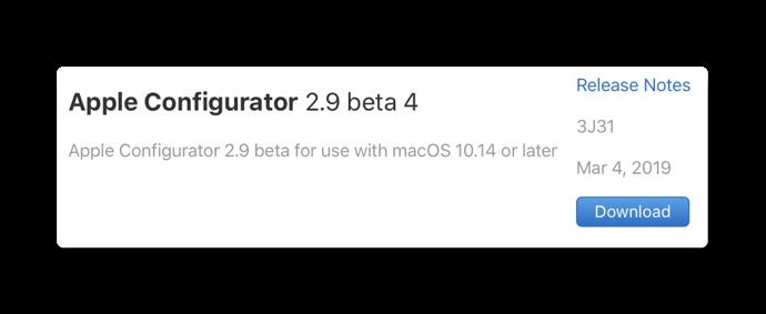 Apple Configurator 2 9 beta 4 00001