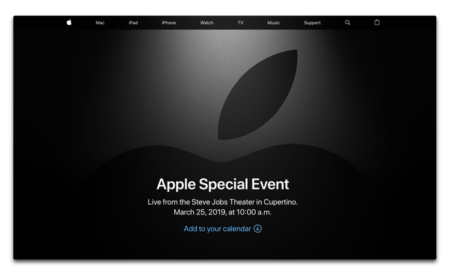 2019年3月26日(日本時間)「Apple Special Event」をリアルタイムで見るのなら、ここをチェック!