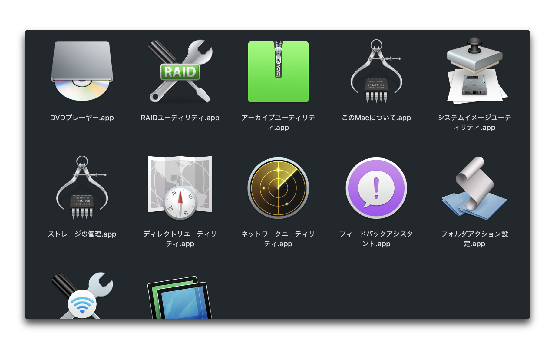 macOSの隠しCoreServicesフォルダの詳細