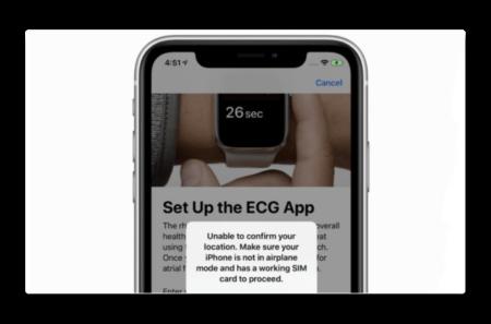 Apple、watchOS 5.2 beta 5で米国以外でのECG機能をブロック