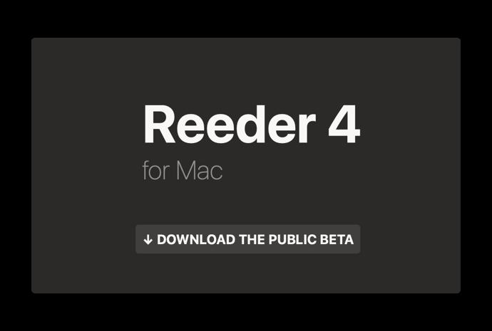 Reeder 4 for Mac 00001