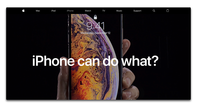 Apple、「iPhone can do what?」としてiPhoneの機能を紹介するページを追加
