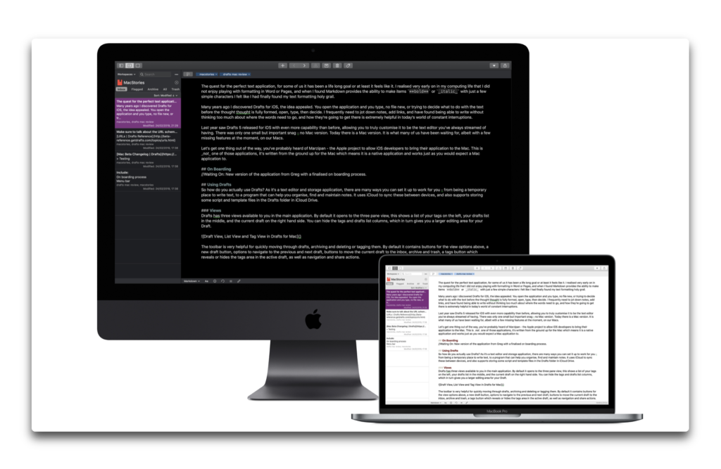 【Mac】「Drafts for Mac」が新機能を追加してバージョンアップ