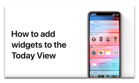 Apple Support、iPhoneとiPadのToday Viewにウィジェットを追加する方法のハウツービデオを公開