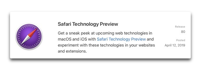 Safari Technology Preview 80 00001