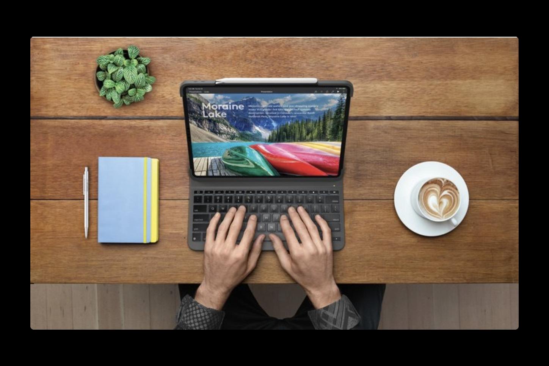ロジテック、iPad Pro 2018用のキーボードケース「Slim Folio Pro」を発表
