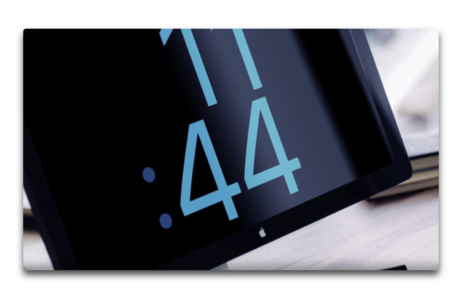 Apple Watchの文字版を表示するMacのスクリーンセーバ「Watch OS X」
