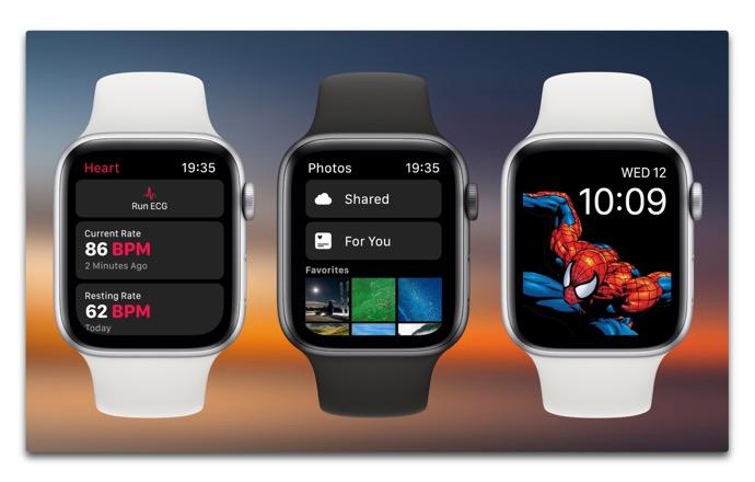 watchOS 6のコンセプト画像、拡張されたアクティビティリングやウォッチフェイスコントロール