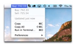 【Mac】スクリプトまたはプログラムをメニューバーに直接表示できる無料アプリ「BitBar」