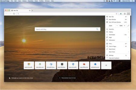 Microsoftのブラウザ「Edge for Mac」プレビュー版が利用可能に