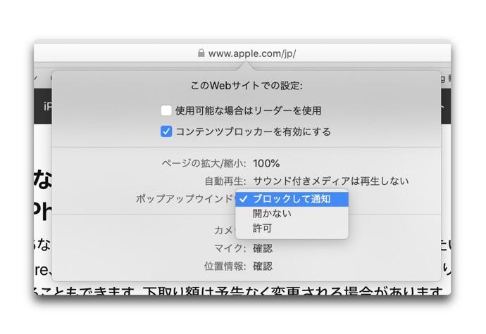 Safari Pop up Window 00003 z