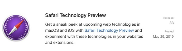 Safari Technology Preview 83 00001