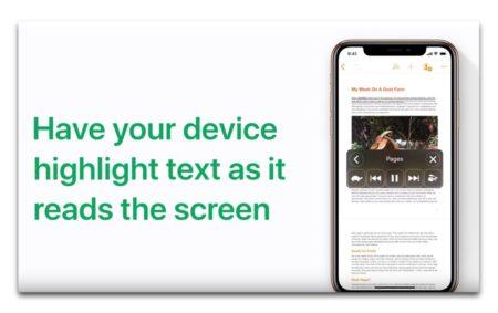 Apple Support、「読み上げ機能でテキストをハイライトさせる方法」のハウツービデオを公開