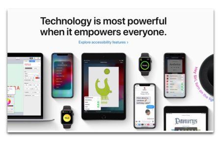 Apple、Global Accessibility Awareness Dayをフューチャーするためにトップページで特集