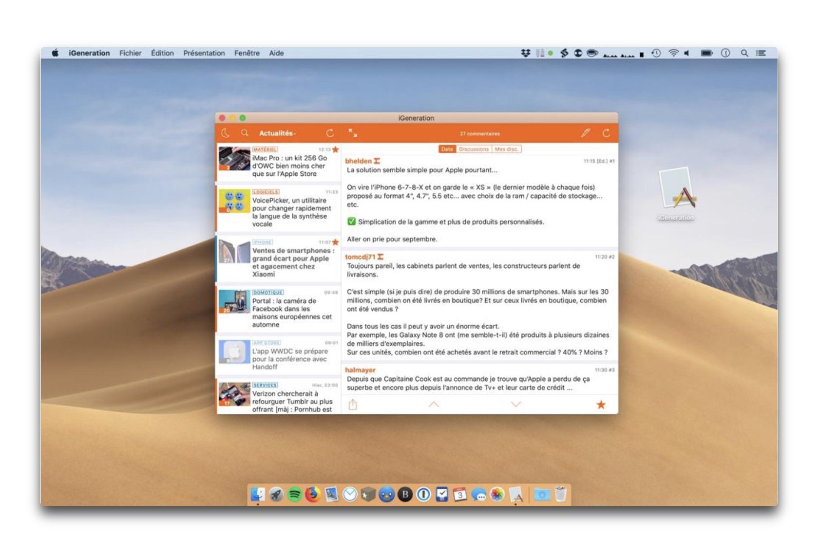 Marzipanを介して、iOSアプリをMacに移植したアプリのビデオを公開