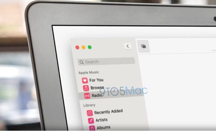 WWDCを前にリークされた次期macOS 10.15のミュージックとテレビアプリのスクリーンショット