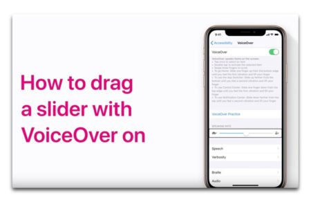 Apple Support、VoiceOver使用時にスライダーを微調整する方法のハウツービデオを公開