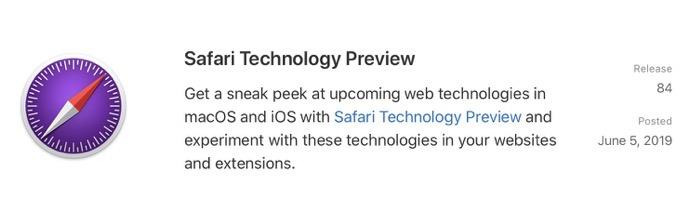 Safari Technology Preview 84 00001