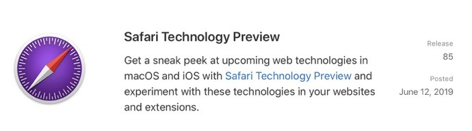 Safari Technology Preview 85 00001