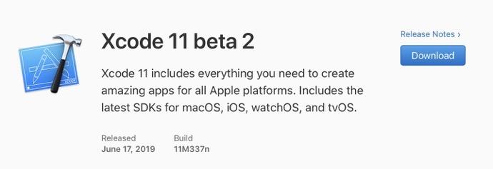 Xcode 11 beta 2 00001
