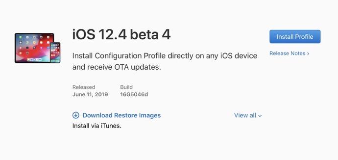 IOS 12 4 beta 4 00001