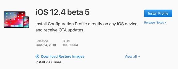 IOS 12 4 beta 5 00001 z
