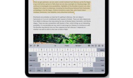 iPadOSのキーボードの特徴は、QuickPath、QuickTypeキーボードのフロート、他にも