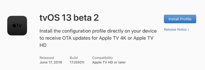 TvOS 13 beta 2 00001