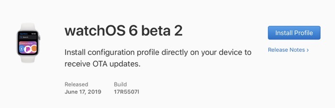 WatchOS 6 beta 2 00001