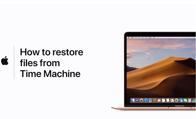 Apple Support、「Time Machineバックアップからファイルを復元する方法」のハウツービデオを公開