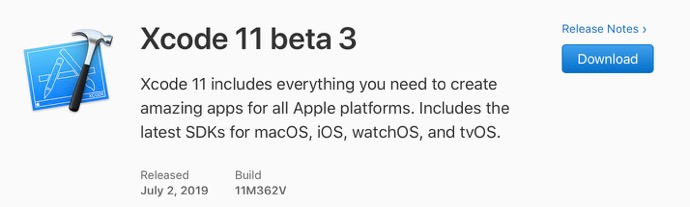 Xcode 11 beta 3 00001 z