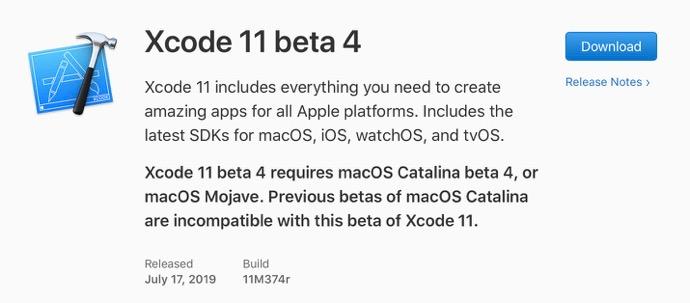 Xcode 11 beta 4 00001 z
