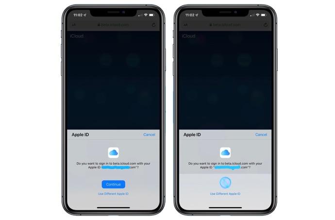 Apple、IOS 13 Betaユーザー向けのFace IDとTouch IDでiCloudサインインをテスト