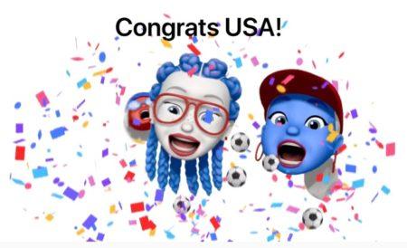 Apple、米国女子ワールドカップ優勝記念のトリビュートでMemojiを作成