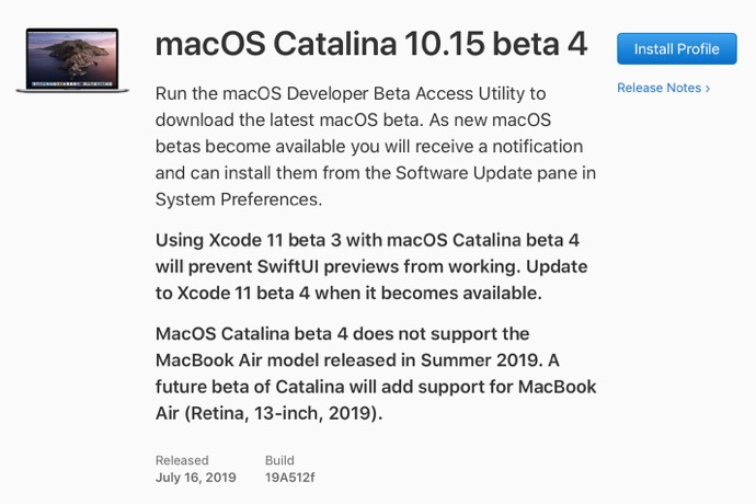 MacOS Catalina 10 15 beta 4 00001 z
