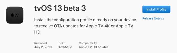 TvOS 13 beta 3 00001 z
