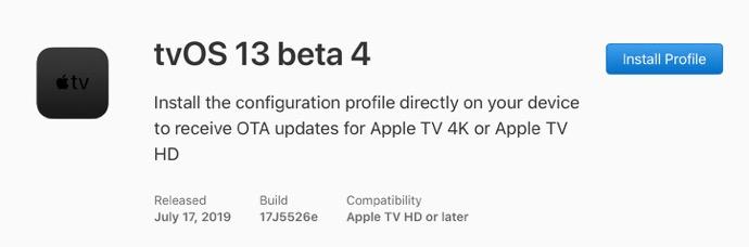 TvOS 13 beta 4 00001 z